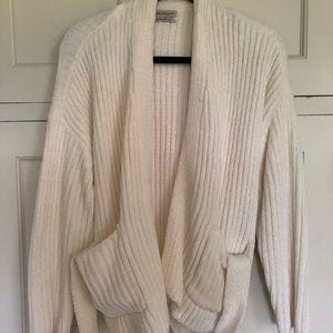 White Sweater Cardigan